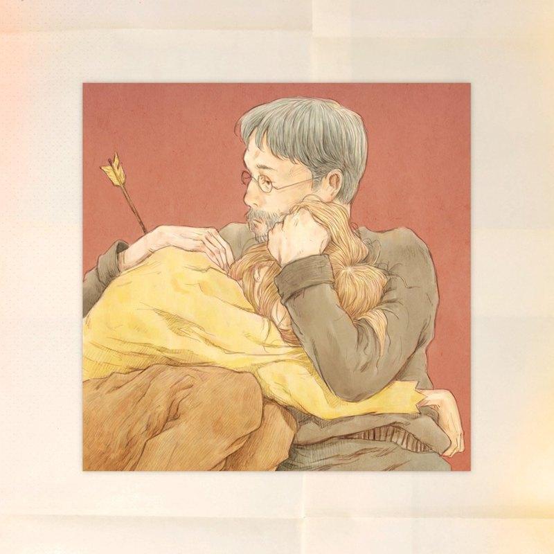 插畫明信片-一個擁抱就好
