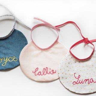 Baby Bibs - Personalized baby Bibs set of 3, Bibs, bib set, Gift for babies, girls Bibs , hand embroidery Bibs, Round Bibs,