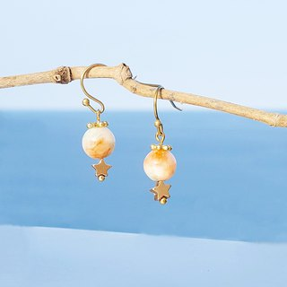 Summer Xinghai Party - Xingyan Persian Jade Brass Earrings Minimalist Stars Cute Music Sacrifice