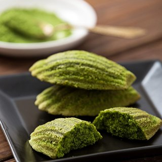 [Leonana French handmade dessert] 12 into the group - Kyoto Uji - Yucha tea Madeleine # Wet and moist taste # French traditional pastry # AOC certified cream