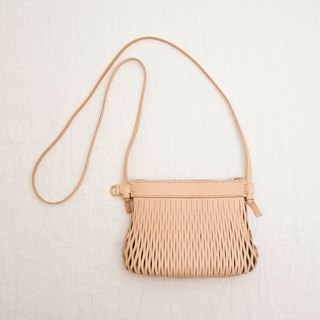 Hand-stitched leather shell cross-body bag