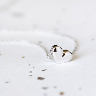 Solid Heart necklace silver925