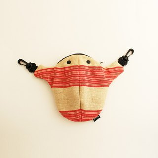 "The creature bag middle Kodomo-sagari Exclusive ""Red stripes"" Da-hong"