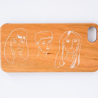 "【Natural Wood iPhone case】""GIRLS' POWER"" WOOD smartphone case"