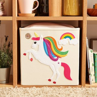 American kaikai & ash Toy Storage Box - Rainbow Unicorn