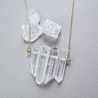 Simple style Pure Raw Stone Quartz Necklace