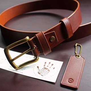 [VULCAN Belt 38mm Retro Wide Leather Belt] Italian Walpor vegetable tanned leather six colors