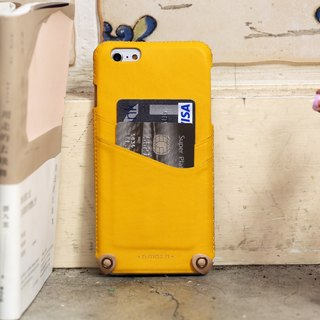 iPhone 6 PLUS /6S PLUS / 5.5 inch New Minimalist Series Leather Case - Yellow
