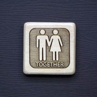 Logs small magnets Together male and female friends