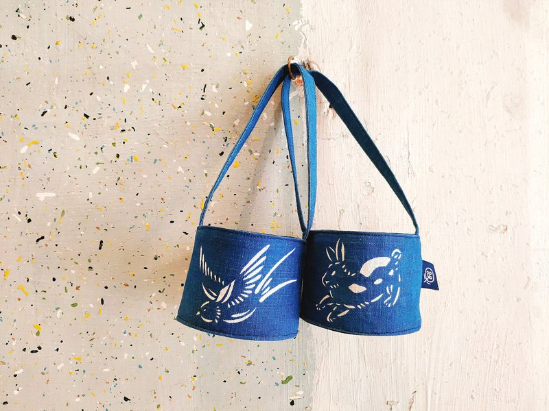 藍染環保杯套