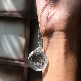 【Lost And Find】Natural clear quartz  bird necklace