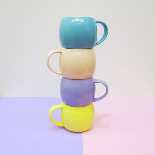 [Customized] + macaroon mug piles hand folding canvas pouch - any combination of two monovalent cup