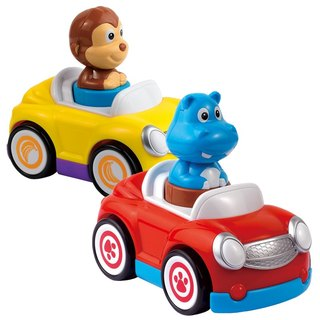 HAP-P-KID animal pull back car 2 combination
