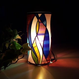 Glass art acrylic table lamp  Japanese modern