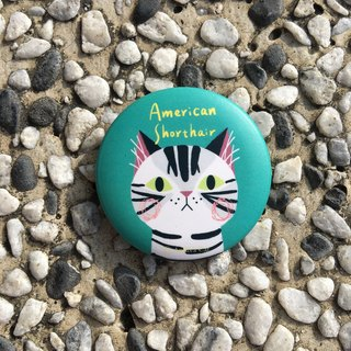 Big Head Cat Badge - American Shorthair American Shorthair