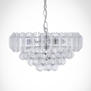 BNL00065- chrome transparent acrylic beads hanging suction dual lamp
