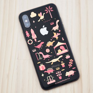 Lonely Planet 2.0 Mobile Shell - Dinosaurs Goes to Market - Pink - Transparent (Custom)