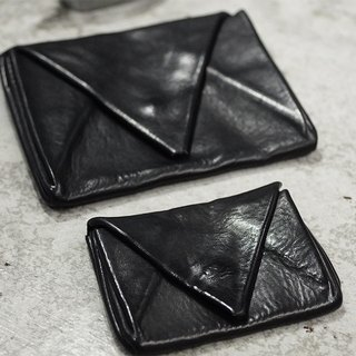 【Nong】 handmade leather goods / first layer of vegetable tanning calfskin / experimental wash to do the old / envelope card package / purse