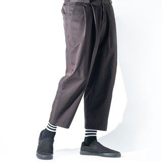 Elastic Discount Nine Pants_Dark Brown Neutral