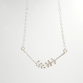I-Shan13 | Two small fern leaf necklace