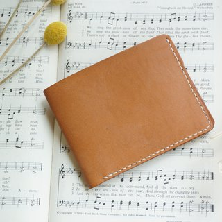 Brown classic gentleman short clip / wallet / card holder