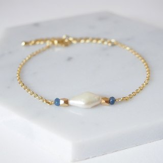 Exquisite noble · Irregular freshwater pearl · Natural stone · Gold plated cut face beads · Bracelet