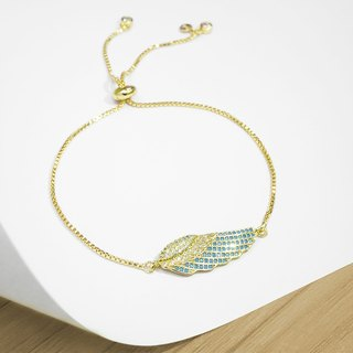 Edith & Jaz • Angel Wing Bling Bling Bracelet - Gold Color