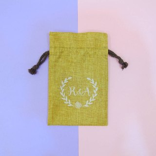 Custom Patterns - Wedding Accessories Burlap Drawstring Bags Candy Bags Soap Bags