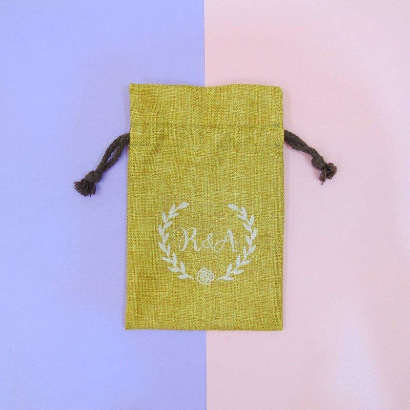 Customized wedding small things-linen beam storage bag wedding candy bag soap bag gift bag