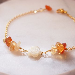 Anniewhere | Warm | Agate White Rose Bracelet/Anklet