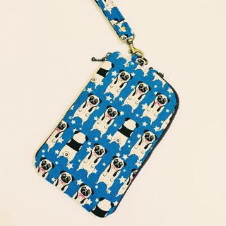 Dog fighting mobile phone bag and purse 2 storage bag mobile phone bag (customer) 03287