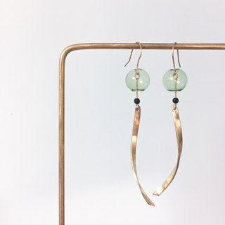 afternoon / brass wind chime earrings