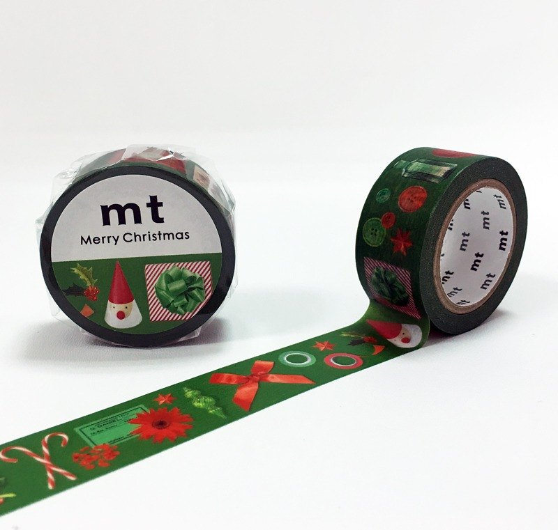 Mt and paper tape Christmas [Christmas red with green (MTCMAS71)] finished production
