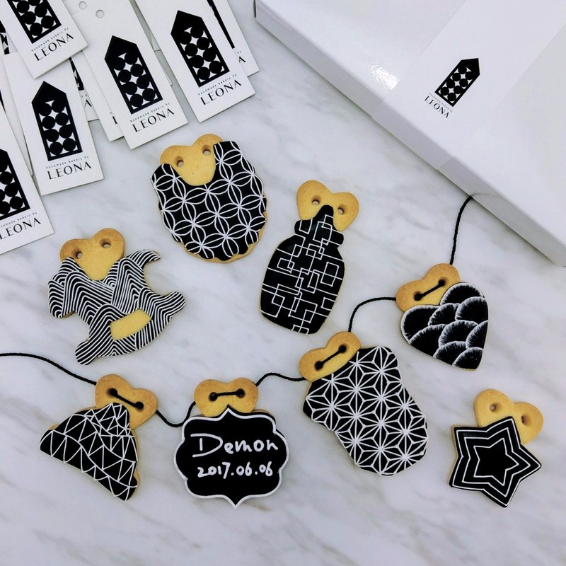 Leona hand-made icing cookies for biscuits ((Dark Baby 8)