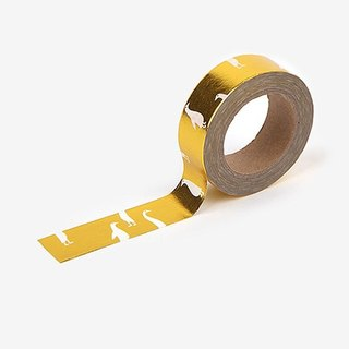 Dailylike Gold and Silver Series - single roll of paper tape -48 white goose (gold), E2D26396