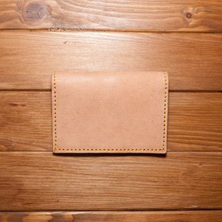 Dreamstation leather Pao Institute, vegetable tanned sheepskin leather business card holder, documents folder, card holder