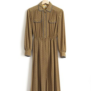 Vintage Cute P Vintage Long Sleeve Dress