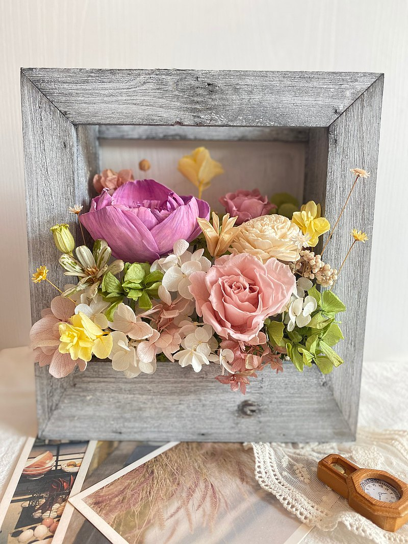 Spring Picture Frame Flower Housewarming Flower Gift Birthday Gift