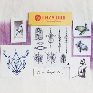 Goody Bag - LAZY DUO Temporary Tattoo Stickers · Set D ·