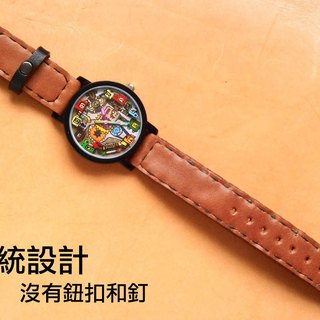 Replace the battery and the traditional strap design