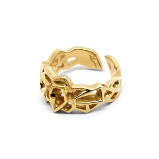 WIREFRAME Ring (S) /  Gold  (Small)