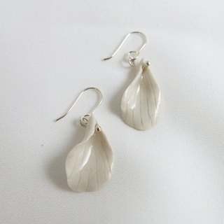 Feuilles mortes ceramic earrings