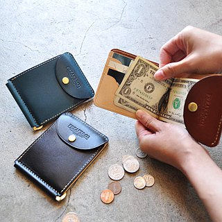 It is a thin compact size tag sealed wallet of oil leather.