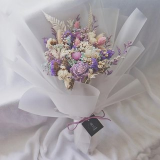 Amor Floral - Purple Dry Bouquet / Valentine's Day Tanabata Wedding Bouquet Birthday Ceremony