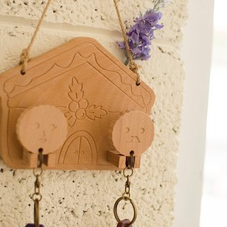[Christmas gift] gingerbread cottage / customized key ring hanging version