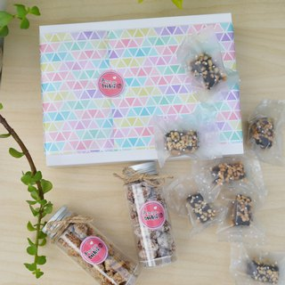 Almond Toffee Gift Box Group Choose two kinds of hanging cream almond fruit + almond toffee - chocolate toffee 12 into