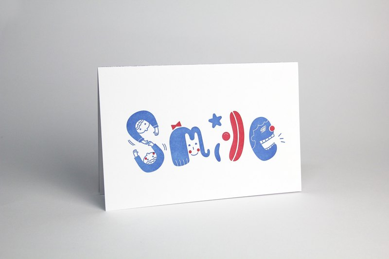[Tattoo Printing] Card - Smile (180 lbs of Fine Art Paper / Envelope) / Universal Card / Christmas Card