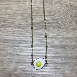 - Lakshmi - Sterile poached egg Super cute egg yolk egg clavicle chain choker necklace special food cute Japanese golden breakfast shop