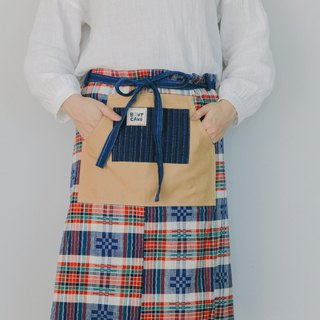 Brut Cake Pure Handwoven - Cloak Half-length Canvas Pocket Apron _ Kitchen, Work_Available at Home, Staff_Hardware Good Cleaning (1)