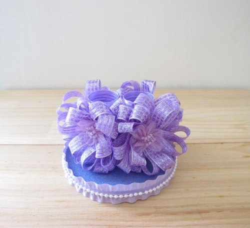 Lavender Ribbon Wedding Pen Holder